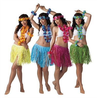 Hawaii set blauw Kalia 4 delig