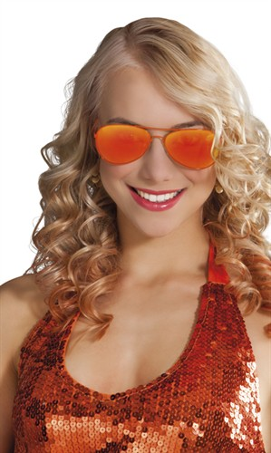 Brille orange Mirror