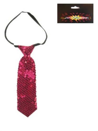 Tie sequins pink small