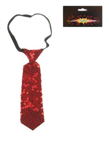 Tie sequins red small