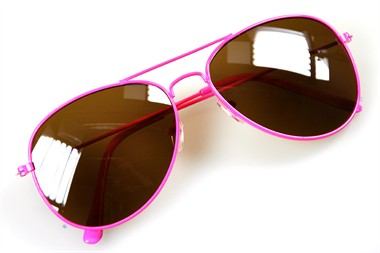 Bril blues brothers neon roze