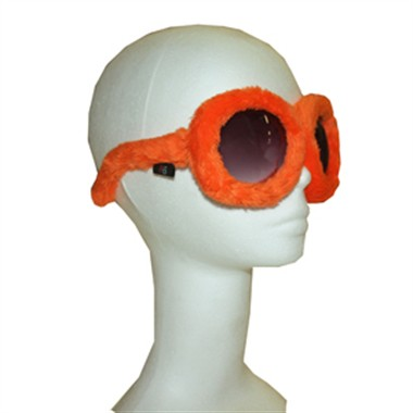 Brille orange Party