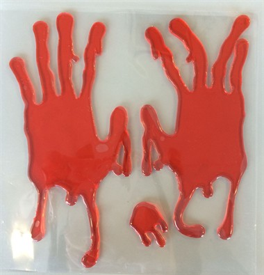 Halloween gel hands decoratie