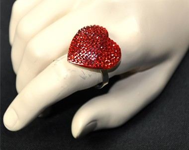 Ring hart rood klein