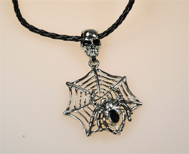 Ketting spinneweb platina halloween