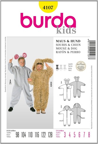 Burda patroon: muis/hond (kind)