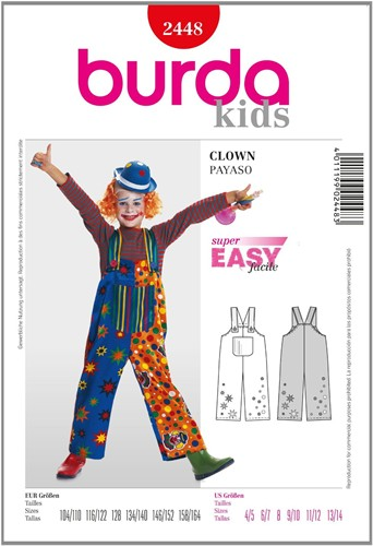 Burda Schnitte: Clown (Kind)