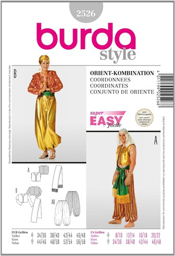 Burda patroon: Orientalische combinatie
