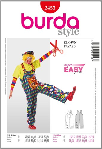 Burda patroon: clown