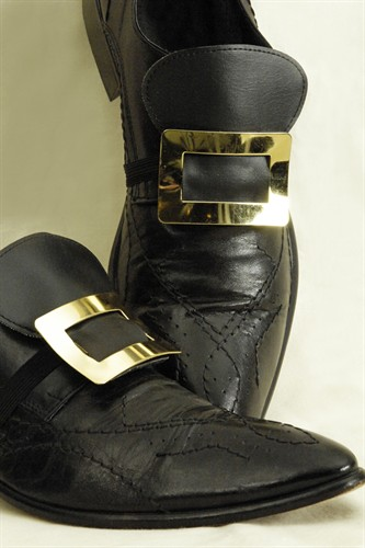 Shoe buckles gold pair
