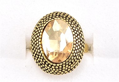 Ring altgold oval topas