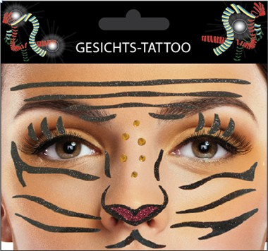 Sticker Gesicht Tiger