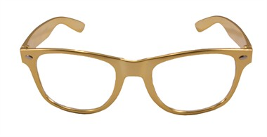 Brille gold metallic
