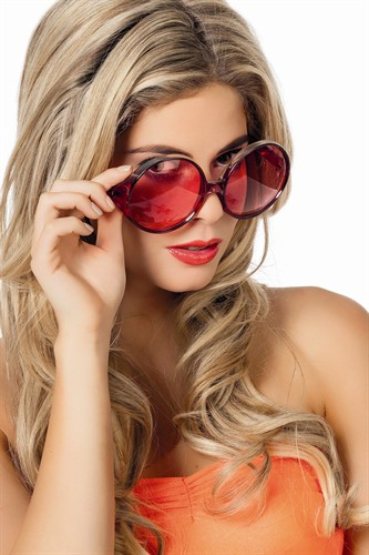 Brille rot Glamour