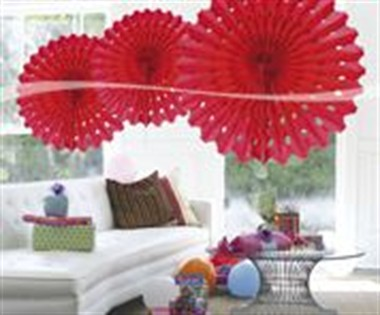 Honeycomb red decoration 45cm