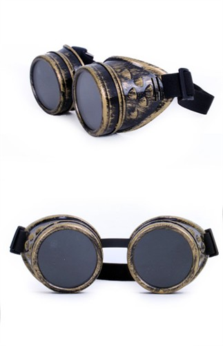 Brille Steampunk gold