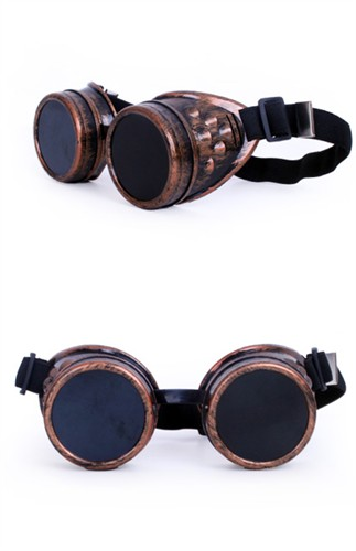 Glasses steampunk copper