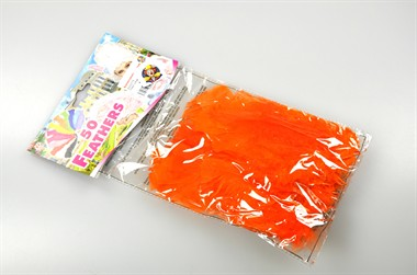 Federn orange 10cm 50er-Pack
