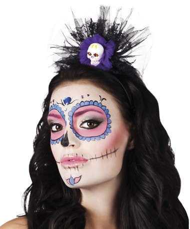Haarreif La Huesuda Day of the Dead Halloween
