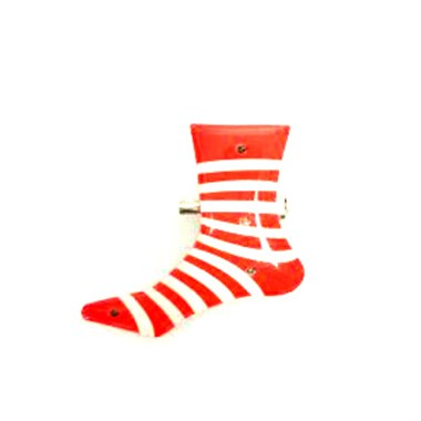 Blinky striped stocking