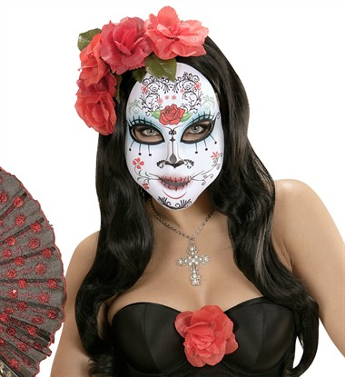 Maske Stoff Day of the Dead