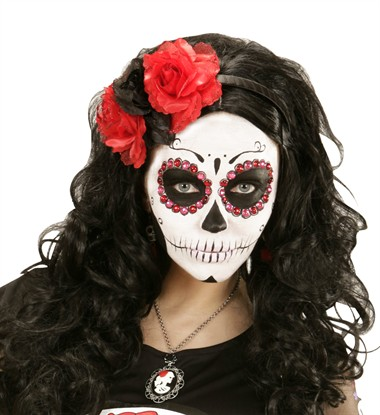 Haarreif Day of the Dead mit Rosen
