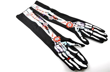 Handschuhe Day of the Dead