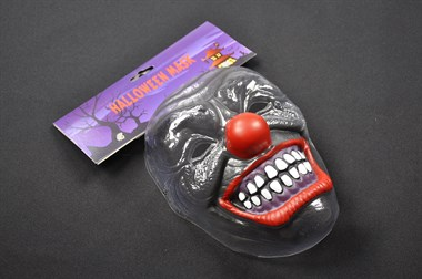 Maske Clown transparent