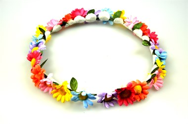 Flower wreath colorful