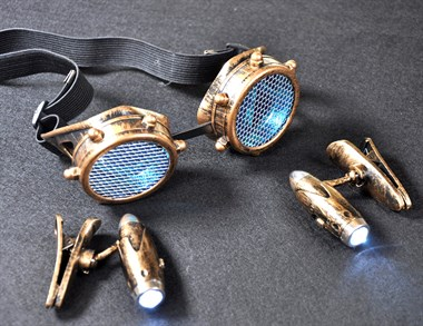 Glasses Steampunk with light