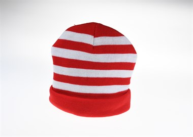 Beanie muts rood / wit