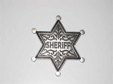 Sheriff-ster zilver