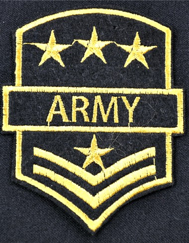 Emblem Army (Stars+Stripes) 7x9cm