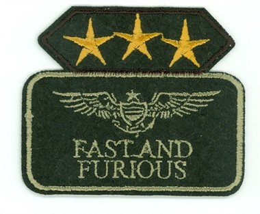 Embleem fast and furious 6x7cm