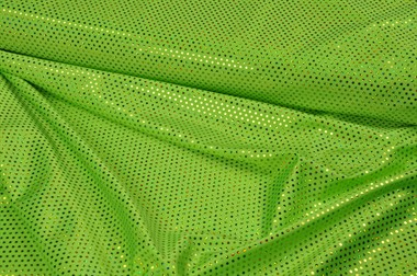 Sequin stretch green 150cm wide