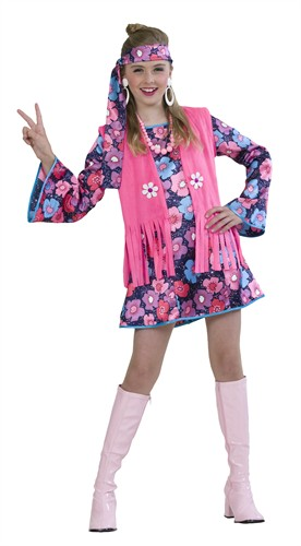 Flower-Girl Peace 3-tlg (Kleid, Weste, Stirnband)
