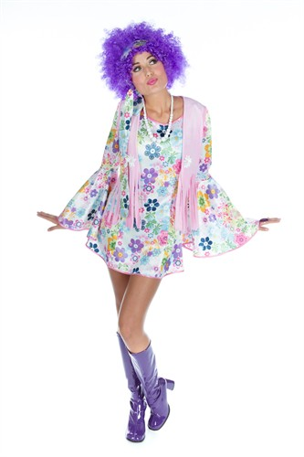 Flower Power Girl Lucky  jurk,vest,hoofdband
