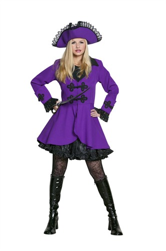 Pirate coat purple