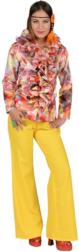 Blouse met ruches Flower Power Summer