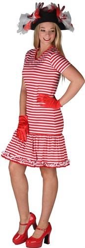Dress striped red / white
