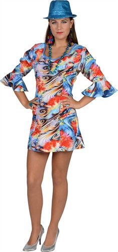 Dress flower power sky ( dress,headband)