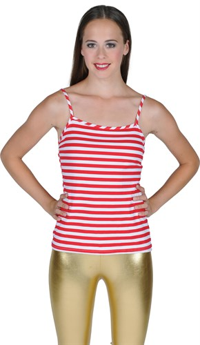 Top red/white stripes