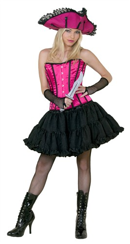 Corset stripes fluor-pink  (Top quality)