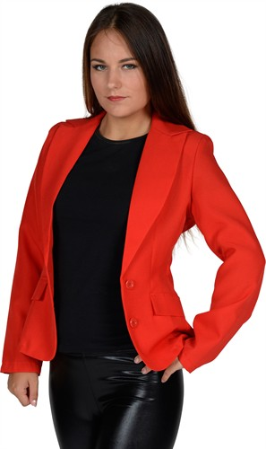 jacket red woman