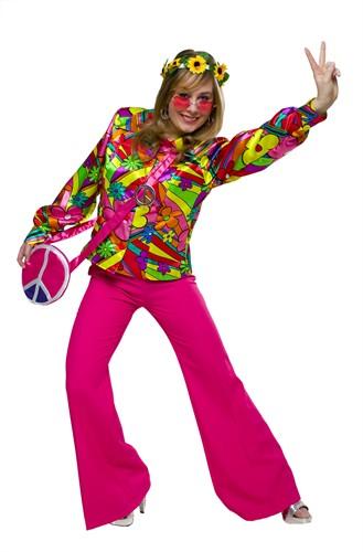 Flower power bluse bei - Hippie bluse damen ...