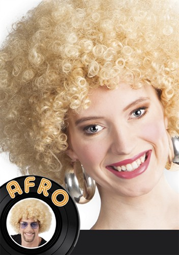 Perücke Afro blond