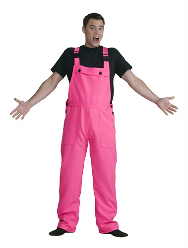 Neon pink worker trousers