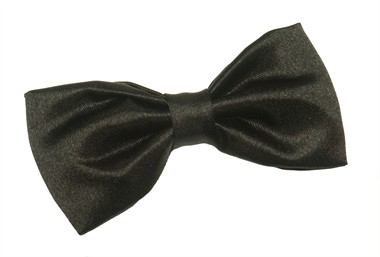 Super bow tie black satin (9x4 cm)