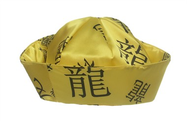 Hat Chinese woman yellow, one size (H=8 cm)