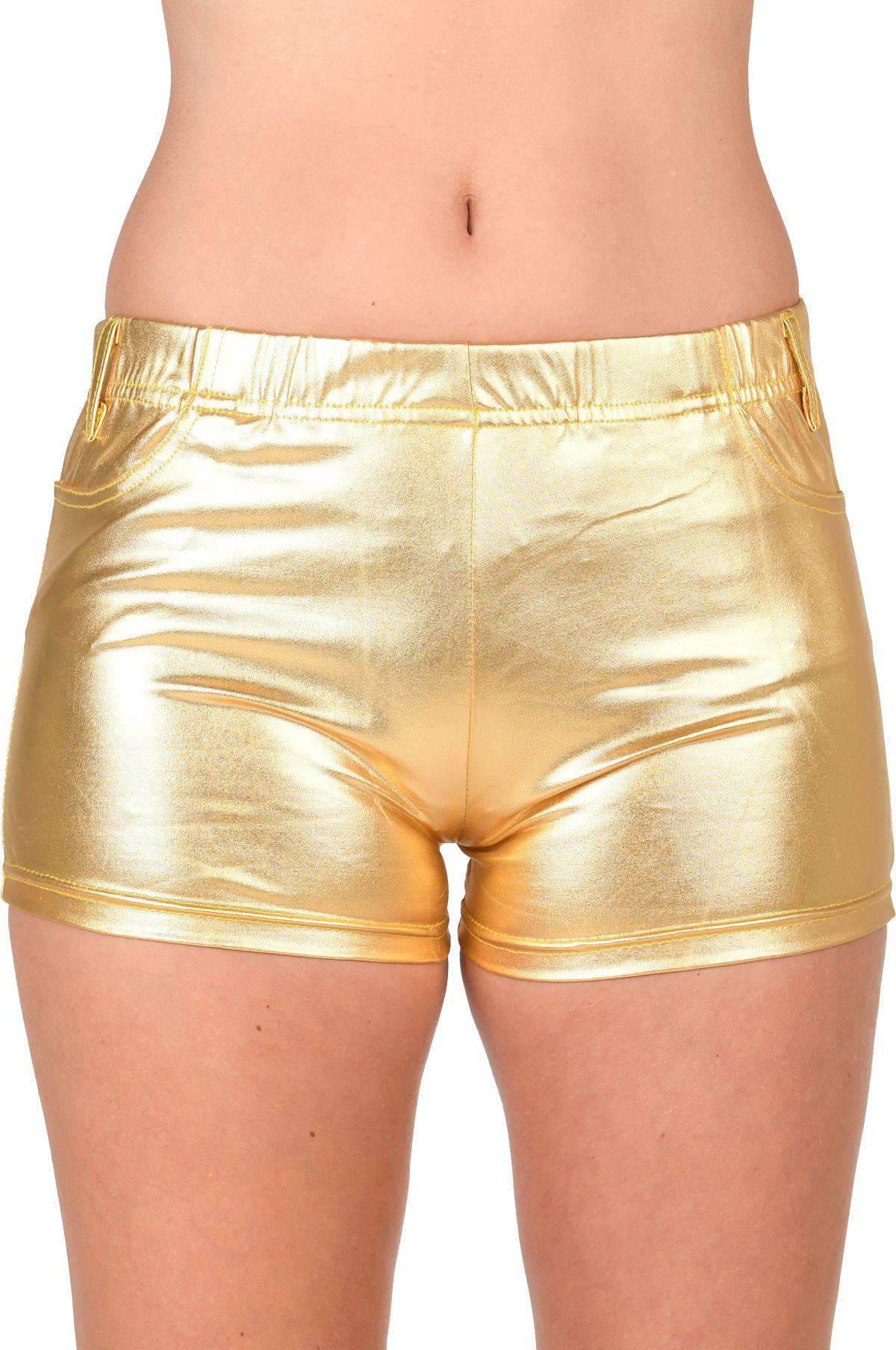 Hotpants Gold Latex